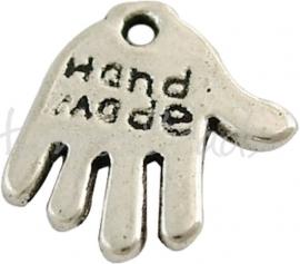 00135 Bedel hand made Antiek zilver (Nickel vrij) 11 stuks