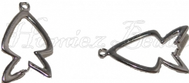 03084 Hanger voor kraal Metaalkleurig 25mmx14mm; pin 2x2,5mm 3 stuks