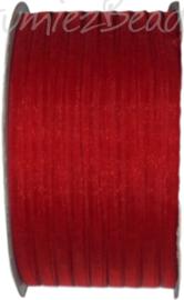 ORG-0313 Organzalint Donker rood 3mm 50 meter