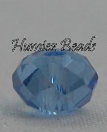 02867 Glaskraal Imitatie Swarovski 5040 briolette Dark Sapphire 4mmx6mm 11 stuks