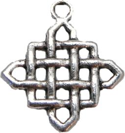 01219 Bedel oneindige knoop Antiek zilver (nikkelvrij) 6 stuks