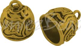 02839 Eindkap Antiek goud (Nikkelvrij) 18mmx15mm; gat 12mm 1 stuks