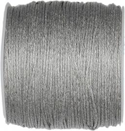 W-0025 Waxkoord Grijs 1mm ±70 meter