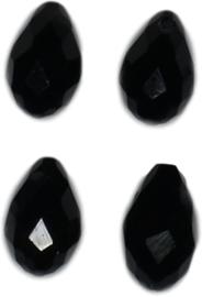 04344 Glaskraal druppel Zwart 4 stuks
