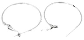 02576 Creolen Zilverkleurig (Nikkelvrij) 70mm; 2,5mm 1paar