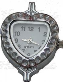 01500 Horloge Antiek zilver 32mmx25mm