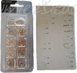 BA-0002 Basis-set met sieradenonderdelen Zilver- en goudkleurig (Nikkelvrij) 1 set
