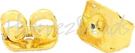 01776 Oorbelachterkantjes Goudkleurig (nikkelvrij) 6mmx4mmx3mm; gat 0,7~1mm 30 stuks