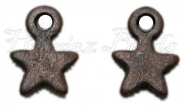 00330 Bedel ster Antiek koper (Nickel vrij)  8mm 11 stuks