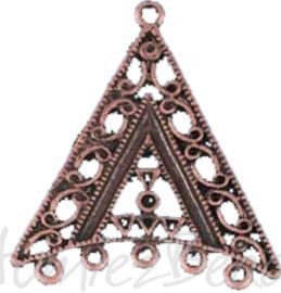 04323 Verdeler driehoek 1-5 gaats Antiek koper (Nikkelvrij) 2 stuks