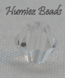 02337 Glaskraal Imitatie Swarovski 5301 bicone Crystal 4mm 12 stuks