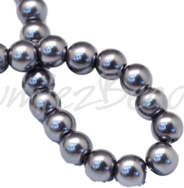 04031 Glasparel Gray 3-4mm; gat 0,5mm 1 streng ±30cm