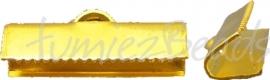 02235 Bandklem Goudkleurig  6 stuks