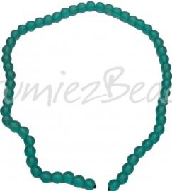 00215 Glaskraal frosted streng ±40cm Licht blauw 8mm 1 streng