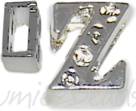04261 Schuifkraal Letter Z Metaalkleurig (Nikkelvrij) 9mmx8mm; gat 6,5mmx3,5mm 1 stuks
