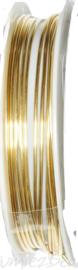 C-0078 Kupferdraht 2,5meter alt goldfarbe 1,0mm 1 rol