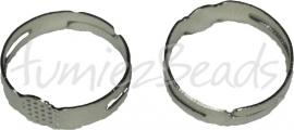 02133 Ring voor opplaksteen zilverkleurig 1 stuks