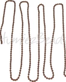 J-0004 Jasseron Ballchain Antiek Brons (Nickel vrij) 3,2mm 1 meter