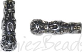 00284 Buiskraal toren Antiek zilver 22,5mmx7mm; gat 2,3mm 5 stuks