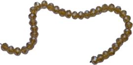 01432 Glaskraal imitatie swarovski faceted Abacus streng (±20cm) Geel 7mmx10mm 1 streng