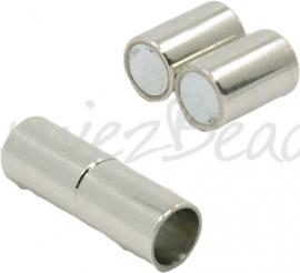 03856 Magneetsluiting Stainless steel 15mmx5mm; gat 4mm 1 stuks