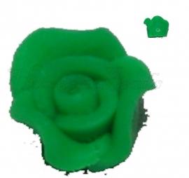 01405 Fimo kraal roosje Groen 10mmx6mm 6 stuks