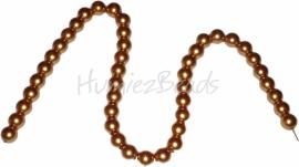 02420 Glasparel streng (±40cm) Oranjebruin 10mm 1 streng