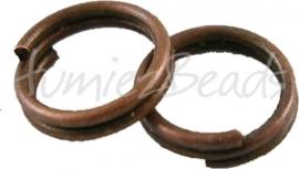 00349 Splitring Antiek koper (Nikkel vrij) ±50 stuks