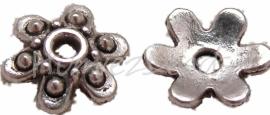 01626 Kralenkap 6-puntig Antiek zilver (Nikkelvrij) 2,5mmx9mm 15 stuks
