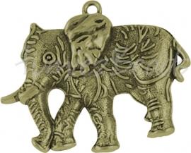 00673 Hanger olifant Antiek brons (Nickel vrij) 66mmx54mm 1 stuks