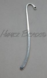 B-0020 Boekenlegger glad Antiek zilver