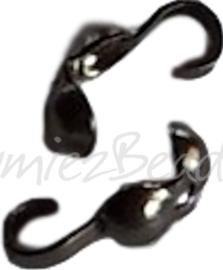 02631 Kalotjes Zwart (Nikkelvrij) 10mm ±40 stuks