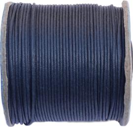 W-1506 Waxkoord  Donker blauw 1,5mm 7 meter