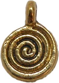 01784 Bedel spiraal Antiek goud 11mmx8mm