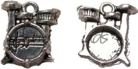 01445 Bedel drumstel Antiek zilver (Nikkelvrij) 16mmx13mmx5mm