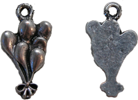 01492 Bedel ballonnen Antiek zilver (nikkelvrij) 22mmx12mm