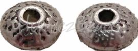 01831 Spacer UFO Antiek zilver (Nikkelvrij) 4mmx8mm 20 stuks