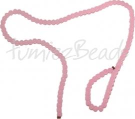 03474 Glaskraal streng ±40cm Jelly Licht roze 4mm 1 streng