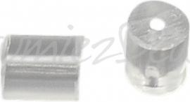 02696 Oorbelachterkantjes plastic Transparant 3mmx3mm ±40 stuks