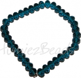 03596 Imitatie swarovski streng (±25cm) Blauw 12mmx8mm 1 streng