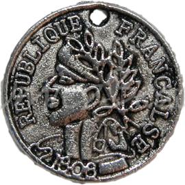 00219 Bedel munt Antiek zilver