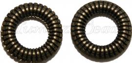 01951 Tussenring gesneden Antiek brons 24mmx4mm 5 stuks