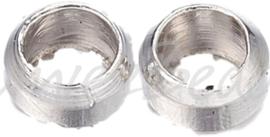 02284 Knijpkraal Metaalkleurig (Nickel vrij) 2,5mm 5gram (±170 stuks)