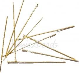 03921 Nietstift Goudkleurig (Nickel vrij) 70mmx0,7mm ±30 stuks