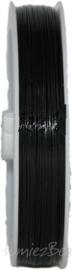 S-1026 Staaldraad 100meter 0,38mm zwart