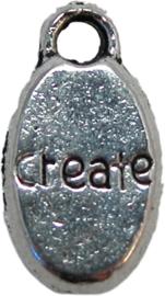 01565 Bedel create Antiek zilver (Nikkelvrij) 15mmx8mm