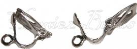 00770 Clip oorbel Metaalkleurig (Nikkelvrij) 12mm 3 paar