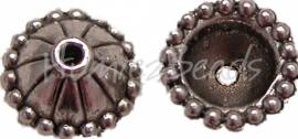 00520 Kralenkap lampenkap Antiek zilver (Nikkel vrij) 4mmx10mm 11 stuks