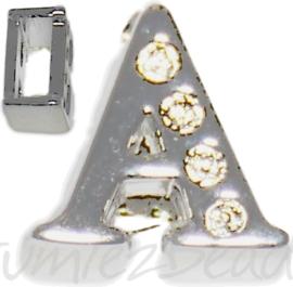 04236 Schuifkraal Letter A 9mmx10mm; gat 6,5mmx3,5mm   1 stuks