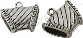 02608 Spacer met oog Antiek zilver (Nikkelvrij 1 stuks